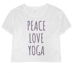 Peace And Yoga Crop