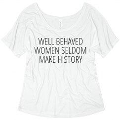Seldom Make History