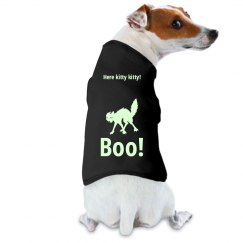 Glow in the dark doggie shirt - Boo!