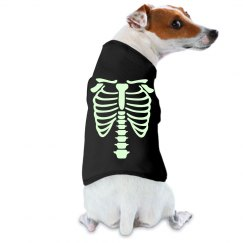 Glow in the dark doggie shirt - Skeleton