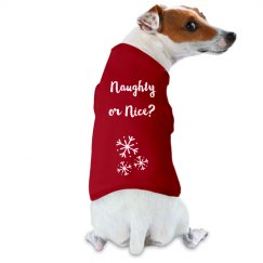 Naughty or Nice doggie t-shirt
