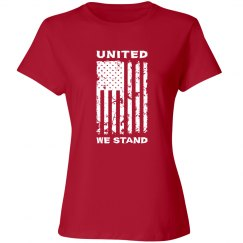 United We Stand Patriotic American Flag T-shirt