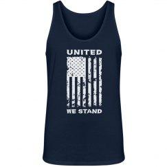 United We Stand Patriotic American Flag shirt