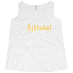 ¡Hola! Tank Yellow Text