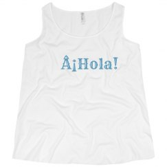 ¡Hola! Tank Light Blue Text