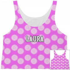 All Over Print Tank Top Hot Pink