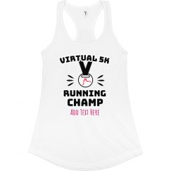 Custom Text Virtual Running Metal Tank