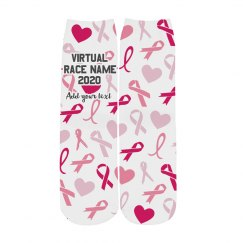 Custom Virtual Charity Race Socks