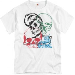"87TH ""SKULL COLLAGE"" TEE"