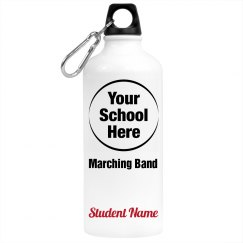 School Logo Marching Band Water Bottle