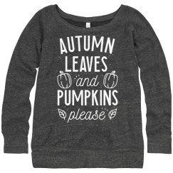 LEAVES AND PUMPKINS LADY'S SWEATER