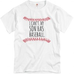 Can't Son has Baseball