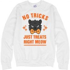 No Tricks Just Treats Halloween Cat