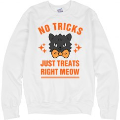 No Tricks Just Treats Halloween Cat