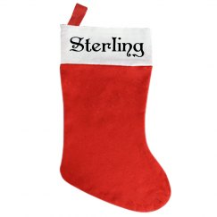 Traditional Christmas Stocking - With Name Sterling
