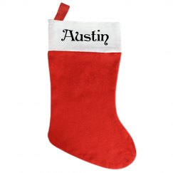 Traditional Christmas Stocking - With Name Austin