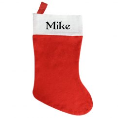 Traditional Christmas Stocking - With Name Mike