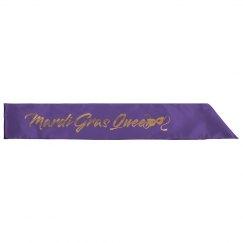 Glitter Queen Mardi Gras Sash