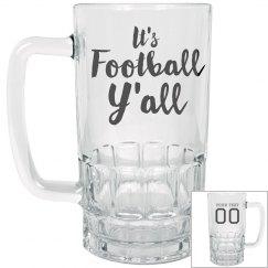 Custom Football Clear Stein