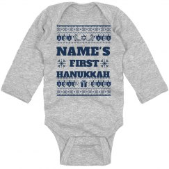 Baby's 1st Hanukkah Ugly Sweater