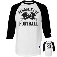 A Trendy Football Mom Shirt With Custom Name Number