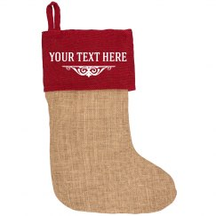 Add Custom Name Holiday Stocking