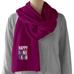 Happy Hanukkah Scarf