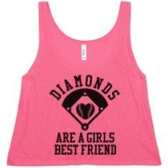 Diamonds Are A Girls Best Friend Trendy Crop Top