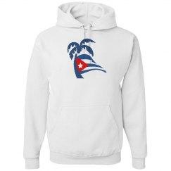 Cuban Flapping Flag Palm Tree Hoodie