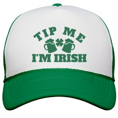 Tip Me I'm Irish St Pattys Hat