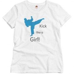 Kick like a girl Tee