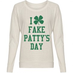 Fake Pattys Day Long Womens Tee