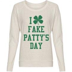 Fake Pattys Day Long Womens Tee