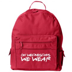 On Wednesdays We Wear Pink At School Small Backpack