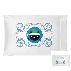 Purrfect Blue pillowcase