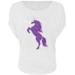 Purple Fire Unicorn Shirt