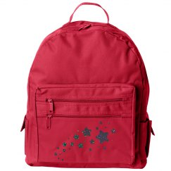 Black Glitter Stars Back Pack
