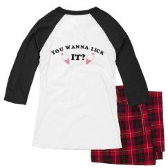 Ladies Raglan Pajama Set