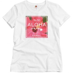 Aloha Hawaii Island Red Hibiscus Flower Shirt