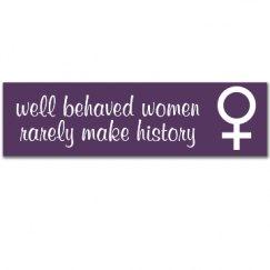 Behaved Bumper Sticker