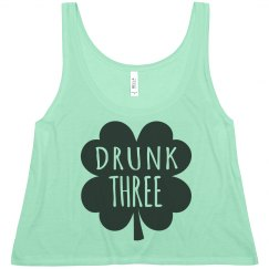 Drunk Three St Patrick's BFF Tee