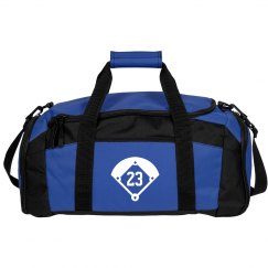 Softball Gear Bag With Custom Number