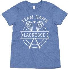 Lacrosse Custom Lax Team Name Youth Tee
