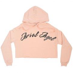 Aerial Angel Crop Hoodie