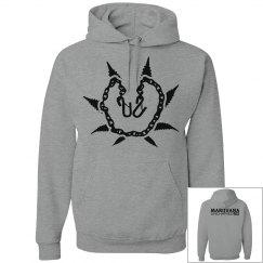 Grey & Black Munch Hoodie