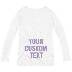 Custom Metallic Maternity Shirt