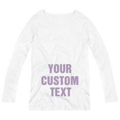 Custom Metallic Maternity Shirt