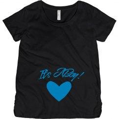 Metallic Maternity Reveal For Boy