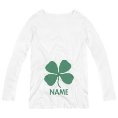 Metallic Shamrock Irish Custom Name