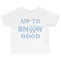 Up to Snow Good Ruffle Tee